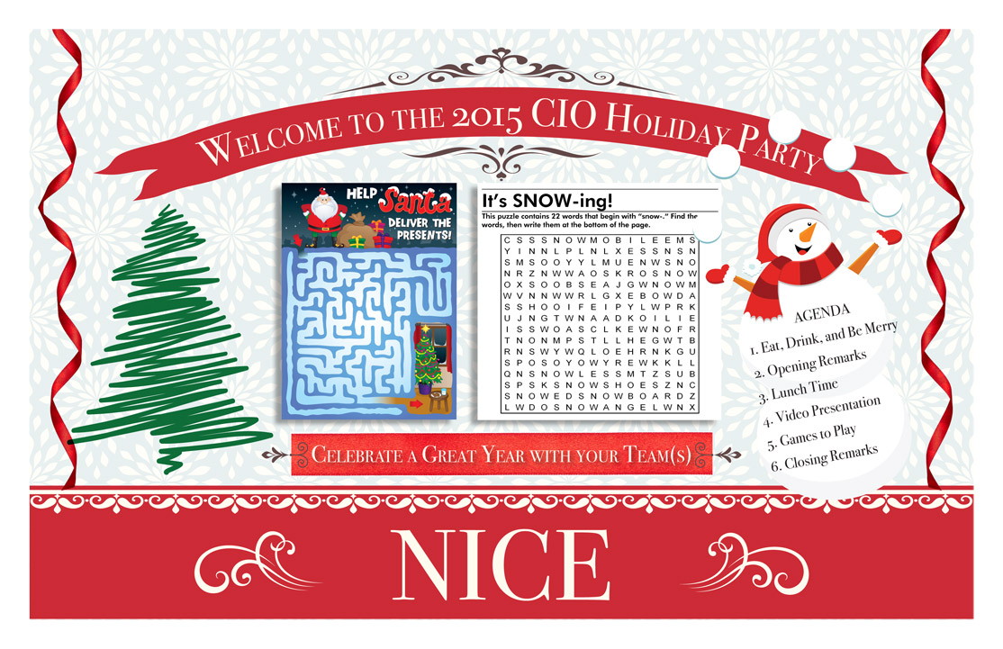 Holiday Placemat - Front